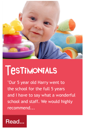 """Our 5 year old Harry went to  the school for the full 5 years  and I have to say what a wonderful  school and staff. We would highly  recommend..."